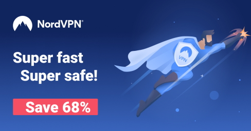 NordVPN: Super Fast Super Safe! Save 68%